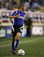 2 April 2005:  Alejandro Moreno of Earthquakes against Revolution at Spartan Stadium in San Jose, California.   Earthquakes and Revolutions tied at 2-2.  Credit: Michael Pimentel / ISI