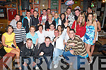 21ST BASH: Shane Murphy, The Kerries (seated centre) having a ball with friends and family at his 21st birthday party held in The Huddle Bar on Saturday night.   Copyright Kerry's Eye 2008