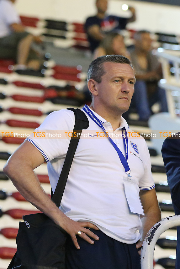 England Manager, Aidy Boothroyd looks on at the pitch invasion by Morocca fans at the end of the Tournament - USA Under-23 vs England Under-20 - 2015 Toulon Tournament Third/Fourth Place Play-Off Final Football at Stade Mayol, Toulon, France - 07/06/15 - MANDATORY CREDIT: Paul Dennis/TGSPHOTO - Self billing applies where appropriate - contact@tgsphoto.co.uk - NO UNPAID USE