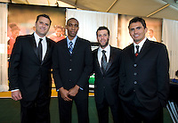 Curt Onalfo, Eddie Pope, Ben Olsen, Jaime Moreno. The 2010 US Soccer Foundation Gala was held at City Center in Washington, DC.