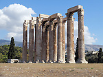 ATHENS - 9 October 2016 - Columns of the Olympian Zeus, is a colossal ruined temple in the center of the Greek capital Athens that was dedicated to Zeus, king of the Olympian gods. Picture: Ryan Eyer