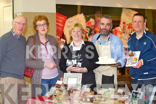 Noel Riordan, Patricia Riordan, Glenbeigh, Melanie Harty from Hartys, John Harty, Fab Fudge, Mark Doe, Just Cooking at the 'taste of something special' Tralee food Fair at Manor West shopping centre on Saturday and Sunday