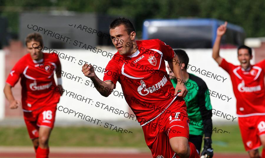 Fudbal UEFA Europa League season 2012-2013.Naftan Vs. Crvena Zvezda.Filip Kasalica celebrates .Vitebsk, 19.07.2012..foto: Srdjan Stevanovic/Starsportphoto ©