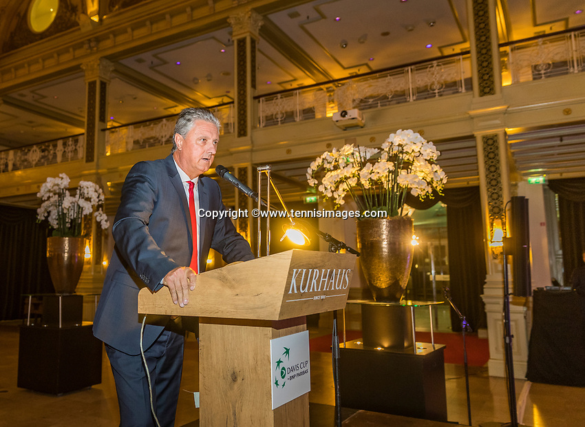 The Hague, The Netherlands, September 13, 2017,  Sportcampus , Davis Cup Netherlands - Chech Republic, Official Dinner, Chech Captain Navratil<br /> Photo: Tennisimages/Henk Koster
