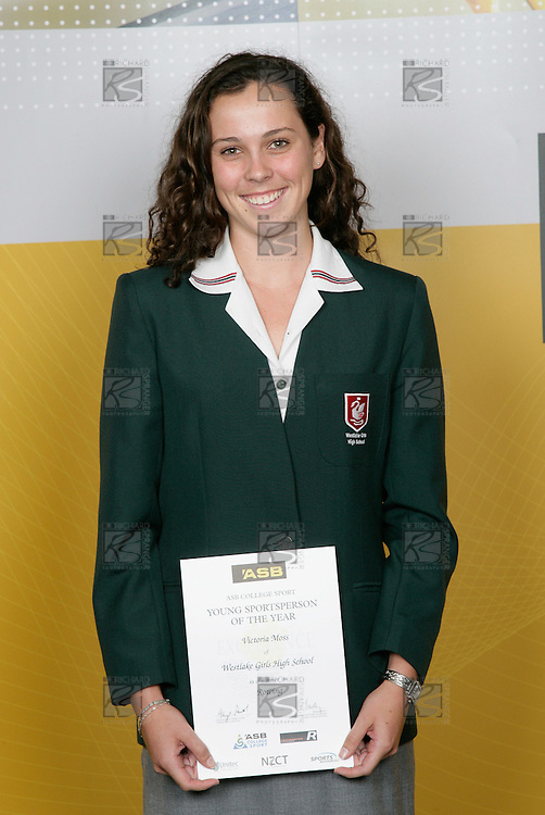 Rowing Girls Winner - Vicotria Moss. ASB College Sport Young Sportsperson of the Year Awards 2006, held at Eden Park on Thursday 16th of November 2006.<br />
