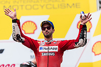 3rd November 2019; Sepang Circuit, Sepang Malaysia; MotoGP Malaysia, Race Day;  3rd placed Ducati Corse Team rider Andrea Dovizioso on the podium<br />  - Editorial Use