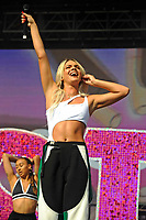 LONDON, ENGLAND - JUNE 3: Louisa (Louisa Johnson) performing at Mighty Hoopla at Brockwell Park, Brixton on June 3, 2018 in London<br /> CAP/MAR<br /> &copy;MAR/Capital Pictures