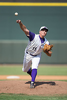 Winston-Salem Dash relief pitcher Mick VanVossen (15) delivers a pitch to the plate against the Potomac Nationals at BB&T Ballpark on August 6, 2017 in Winston-Salem, North Carolina.  The Nationals defeated the Dash 4-3 in 10 innings.  (Brian Westerholt/Four Seam Images)