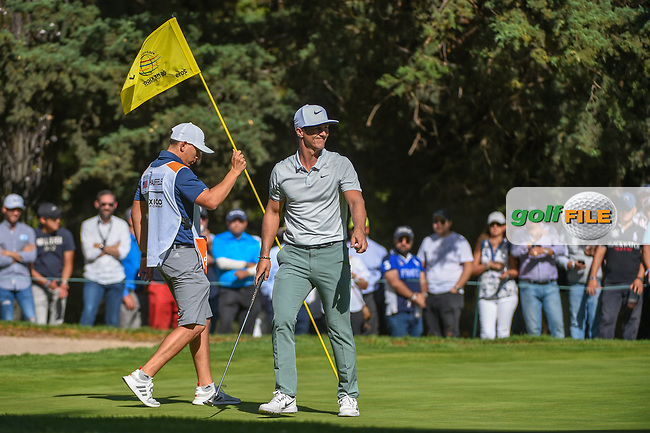 Thorbjorn Olesen (DEN) smiles after sinking his putt on 7 during round 1 of the World Golf Championships, Mexico, Club De Golf Chapultepec, Mexico City, Mexico. 2/21/2019.<br /> Picture: Golffile | Ken Murray<br /> <br /> <br /> All photo usage must carry mandatory copyright credit (© Golffile | Ken Murray)