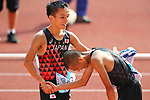 (L-R) <br />  Hiroto Inoue, <br /> Hayato Sonoda (JPN), <br /> AUGUST 25, 2018 - Athletics - Marathon : <br /> Men's Marathon Final <br /> at Gelora Bung Karno Main Stadium <br /> during the 2018 Jakarta Palembang Asian Games <br /> in Jakarta, Indonesia. <br /> (Photo by Naoki Nishimura/AFLO SPORT)