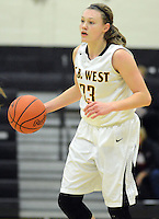DOYLESTOWN, PA - DECEMBER 16: Central Bucks West's Nicole Munger #33 drives towards the basket against Pennridge in the third quarter of a game at Central Bucks West December 16, 2014 in Doylestown, Pennsylvania. (Photo by William Thomas Cain/Cain Images)