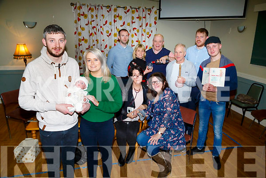 : <br /> <br /> <br /> <br /> The Na Gael GAA Club Players launch their Murder and a Christening on Sunday night at Na Gael GAA club,Tralee the play is on Week-End 23-24th Feb2018 Players:  Front Diarmuid Herl;ihy and Marguerite Maunsell. back are Mike Moyinhan,Kieran Dineen,Helen Sugrue,,Dan O'Connor, Sorcha O'Sullivan, Colm O Sullivan,Noelle Kingston,and Eoghain Sheehy (Godfather)