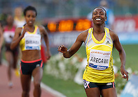 Golden Gala di atletica leggera allo stadio Olimpico di Roma, 6 giugno 2013.<br /> Sweden's Abeba Aregawi wins the women's 1500 meters at the Golden Gala IAAF athletics meeting at Rome's Olympic stadium, 6 June 2013.<br /> UPDATE IMAGES PRESS/Isabella Bonotto