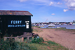AJDJ6A Walberswick ferry fishermen s sheds Suffolk England
