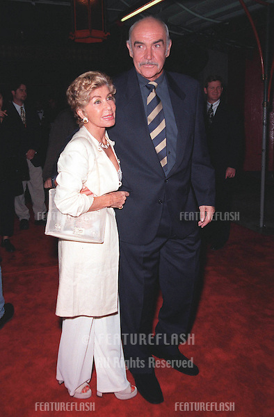 "15APR99:  Actor SEAN CONNERY & wife Micheline at the Hollywood premiere of his new movie ""Entrapment"" in which he stars with Catherine Zeta Jones..© Paul Smith / Featureflash"