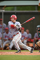 Ball State Cardinals catcher Jarett Rindfleisch (25) during a game against the Dartmouth Big Green on March 7, 2015 at North Charlotte Regional Park in Port Charlotte, Florida.  Ball State defeated Dartmouth 7-4.  (Mike Janes/Four Seam Images)