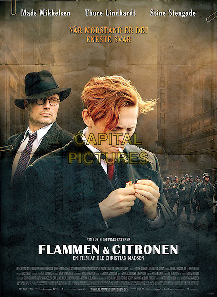 ORIGINAL DANISH POSTER.in Flammen & Citronen.(Flammen og citronen).(Flame & Citron).(The Flame and the Lemon).*Filmstill - Editorial Use Only*.CAP/FB.Supplied by Capital Pictures.