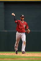 Arizona Diamondbacks Sergio Alcantara (1) during an instructional league game against the San Francisco Giants on October 16, 2015 at the Chase Field in Phoenix, Arizona.  (Mike Janes/Four Seam Images)