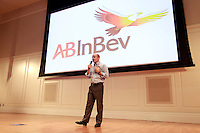 Carlos Brito, CEO for Anheuser-Busch InBev, was a featured speaker Monday November 17, 2014 at the Darden School of Business in Charlottesville, Va. Photo/Andrew Shurtleff