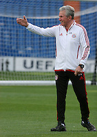 24.04.2012 SPAIN -  UEFA Champions League trining Bayern Munchen at Bernabeu stadium. The picture show Jupp Heynckes