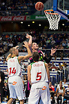 Movistar Estudiantes's Vladimir Stimac during Liga Endesa ACB at Barclays Center in Madrid, October 11, 2015.<br /> (ALTERPHOTOS/BorjaB.Hojas)