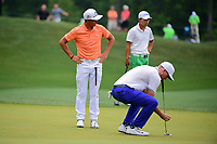 Rickie Fowler (USA) reacts to barely missing his putt on 3  during round 4 of the Shell Houston Open, Golf Club of Houston, Houston, Texas, USA. 4/2/2017.<br /> Picture: Golffile | Ken Murray<br /> <br /> <br /> All photo usage must carry mandatory copyright credit (&copy; Golffile | Ken Murray)
