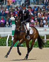 CALICO JOE, ridden by Andrew Nicholson (NZL), competes during Stadium Jumping at the Rolex 3-Day Event at the Kentucky Horse Park in Lexington, Kentucky on April 28, 2013.