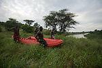 descente du zodiac depuis le village de Korcho jusqu'au fleuve Omo
