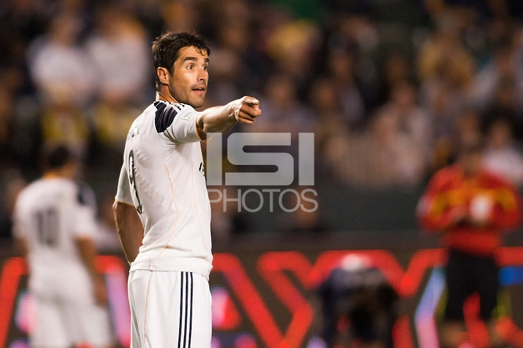 LA Galaxy forward Juan Pablo Angel. The LA Galaxy defeated the Philadelphia Union 1-0 at Home Depot Center stadium in Carson, California on  April  2, 2011....