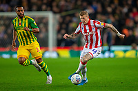 4th November 2019; Bet365 Stadium, Stoke, Staffordshire, England; English Championship Football, Stoke City versus West Bromwich Albion; James McClean of Stoke City runs with the ball - Strictly Editorial Use Only. No use with unauthorized audio, video, data, fixture lists, club/league logos or 'live' services. Online in-match use limited to 120 images, no video emulation. No use in betting, games or single club/league/player publications