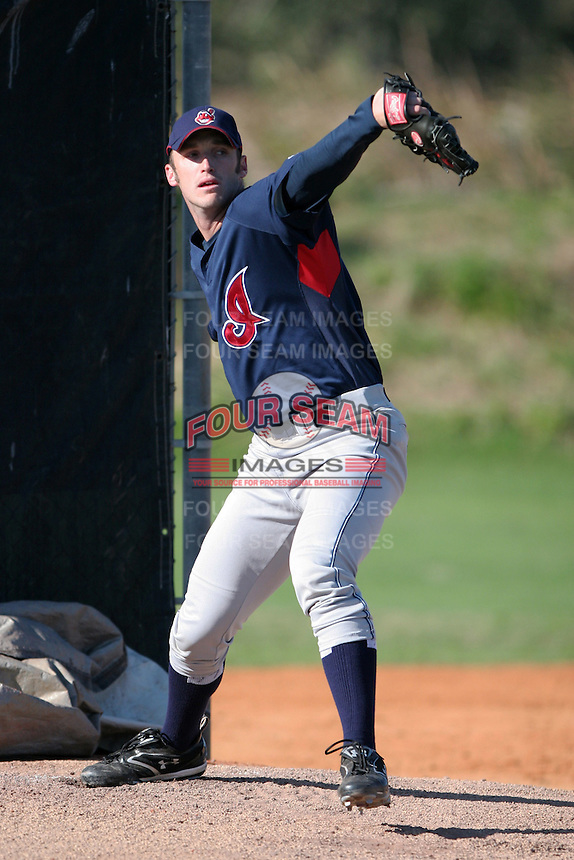 Cleveland Indians minor leaguer Jensen Lewis during Spring Training at the Chain of Lakes Complex on March 17, 2007 in Winter Haven, Florida.  (Mike Janes/Four Seam Images)