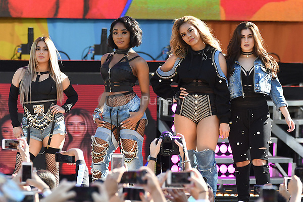 NEW YORK, NY - June 2 : Dinah Jane, Normani Kordel , Ally Brooke and Lauren Jauredui of Fifth Harmony  perform at the Rumsey Playfield in Central Park for the 2017 Good Morning America Concert Series on May 26, 2017 in New York City. Photo by : John Palmer/MediaPunch