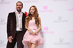 """(L to R) Robert Buchbauer, HARA (KARA), June 29, 2011. Swarovski and Hello Kitty collaboration jewelry line - Swarovski presents """"House of Hello Kitty"""" makes a debut at Omotesando Hills in Tokyo, Japan. This is also a charity event to help the Earthquake victims of Japan."""