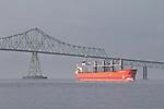 Astoria, Astoria Bridge, cargo ship, bulk carrier, Columbia River, Oregon State, Pacific Northwest, Oregon Coast,
