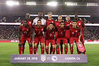 Carson, CA - Sunday January 28, 2018: USMNT Starting Eleven prior to an international friendly between the men's national teams of the United States (USA) and Bosnia and Herzegovina (BIH) at the StubHub Center.