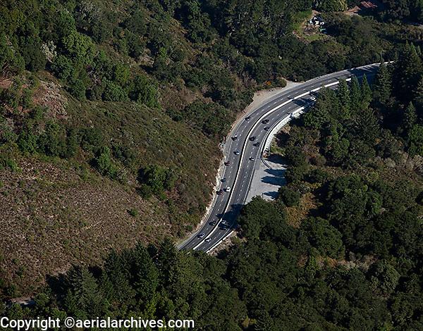aerial photograph Highway 17 Santa Cruz county, California
