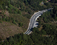 aerial photograph Highway 17 Santa Cruz county, California