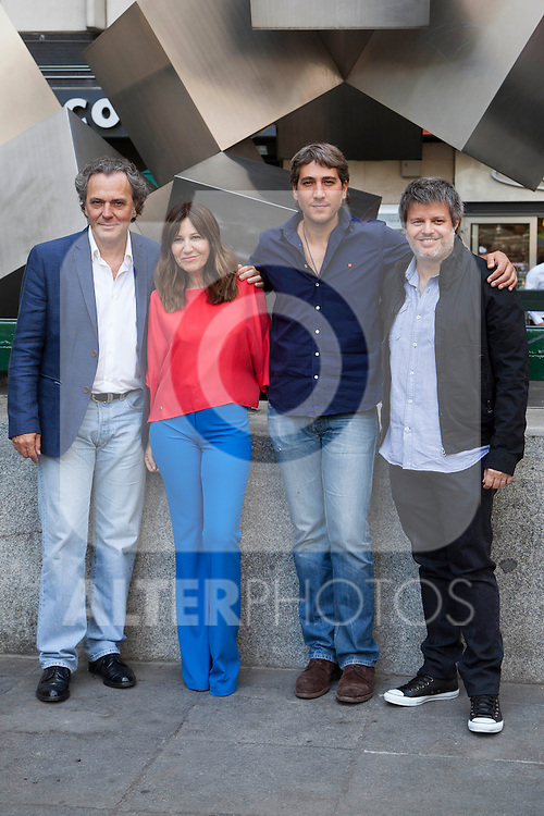 Jose Coronado, Mercedes Moran, Alberto Ammann and director Miguel Cohan present the film 'Betibu' at Cinema Princesa in Madrid. September 09, 2014. (ALTERPHOTOS / Nacho Lopez)