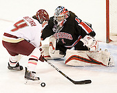 Melissa Bizzari (BC - 4), Leah Sulyma (NU - 1) - The Boston College Eagles defeated the visiting Northeastern University Huskies 2-1 on Sunday, January 30, 2011, at Conte Forum in Chestnut Hill, Massachusetts.