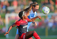 Boyds, MD - Saturday July 09, 2016: Katie Naughton, Francisca Ordega during a regular season National Women's Soccer League (NWSL) match between the Washington Spirit and the Chicago Red Stars at Maureen Hendricks Field, Maryland SoccerPlex.