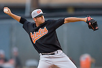 Chase Phillips of the Bluefield Orioles in action versus the Johnson City Cardinals at Howard Johnson Field August 1, 2009 in Johnson City, Tennessee. (Photo by Brian Westerholt / Four Seam Images)