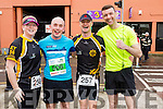 Hilda Moloney, John Johnson, Johnny O'Loughlin and Jamie Henebry runners at the Kerry's Eye Tralee, Tralee International Marathon and Half Marathon on Saturday.