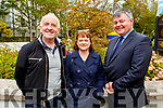 Enjoying the afternoon in the Town Park at the Féile na mBláth on Saturday. <br /> L to r: Aidan and Susan Kelly and Derek Carroll enjoying Féile na mBláth in the Town Park on Saturday.