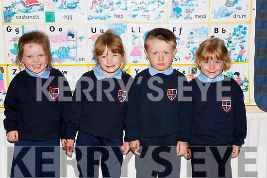 Rockchapel NS junior infants on Monday l-r: Orlaith Keating, Rita Angland, Sean Dan Cahill and Rachel Alllen