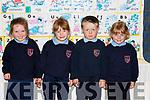Rockchapel NS junior infants on Monday l-r: Orlaith Keating, Rita Angland, Sean Dan Cahill and Rachel Alllen