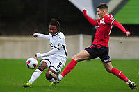 Tivonge Rushesha of Swansea City u23s' in action during the Premier League 2 Division Two match between Swansea City u23s and Middlesbrough u23s at Swansea City AFC Training Academy  in Swansea, Wales, UK. Monday 13 January 2020.