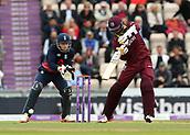 29th September 2017, Ageas Bowl, Southampton, England; One Day International Series, England versus West Indies; West Indies Marlon Samuels in batting action
