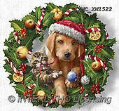 Marcello, CHRISTMAS ANIMALS, WEIHNACHTEN TIERE, NAVIDAD ANIMALES, paintings+++++,ITMCXM1522,#XA# ,Christmas wreath