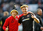 Mark Duffy of Sheffield Utd and Jack O'Connell of Sheffield Utd during the English League One match at  Stadium MK, Milton Keynes. Picture date: April 22nd 2017. Pic credit should read: Simon Bellis/Sportimage