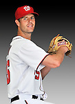 25 February 2011: Washington Nationals' pitcher Doug Slaten poses for his Photo Day portrait at Space Coast Stadium in Viera, Florida. Mandatory Credit: Ed Wolfstein Photo